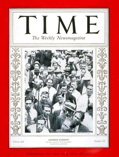 TIME Magazine Cover: Common Citizens -- Nov. 7, 1932