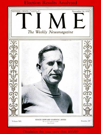 TIME Magazine Cover: Howard H. Jones -- Nov. 14, 1932