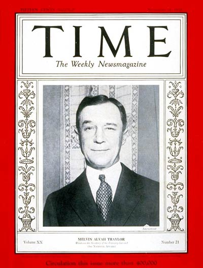 TIME Magazine Cover: Melvin A. Traylor -- Nov. 21, 1932
