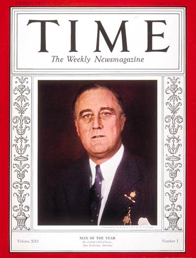 TIME Magazine Cover: Franklin D. Roosevelt, Man of the Year -- Jan. 2, 1933