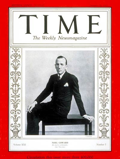 TIME Magazine Cover: Noel Coward -- Jan. 30, 1933