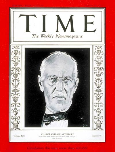TIME Magazine Cover: William W. Atterbury -- Feb. 20, 1933