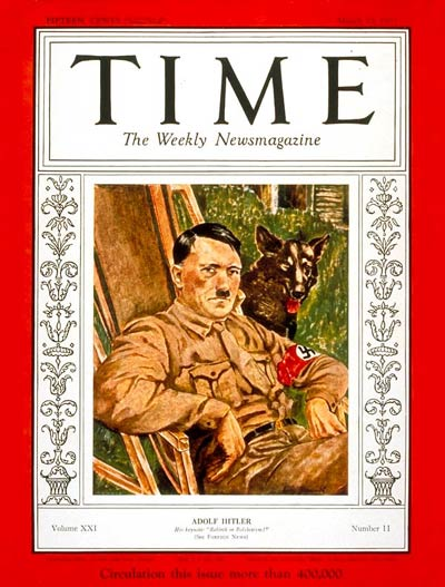 TIME Magazine Cover: Adolf Hitler -- Mar. 13, 1933