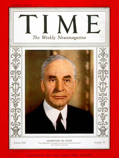 TIME Magazine Cover: Cordell Hull -- Apr. 17, 1933