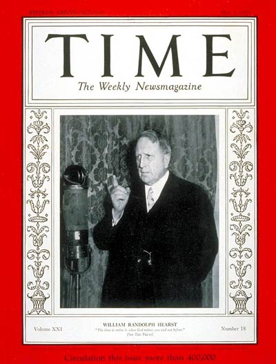 TIME Magazine Cover: William R. Hearst -- May 1, 1933