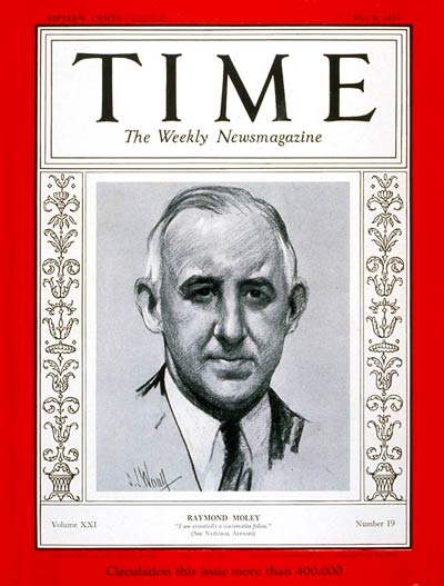 TIME Magazine Cover: Raymond Moley -- May 8, 1933