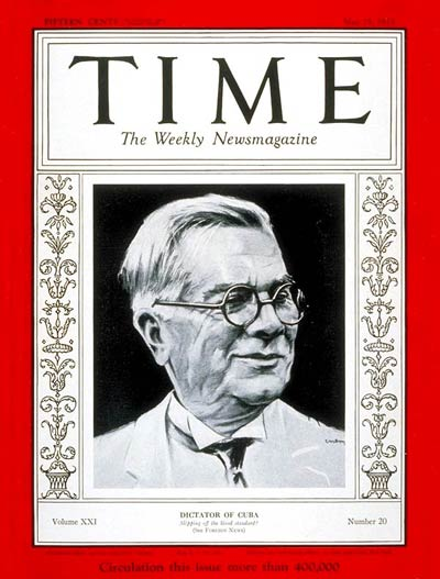 TIME Magazine Cover: Gerardo Machado -- May 15, 1933
