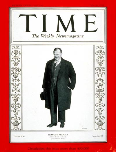 TIME Magazine Cover: Edouard Daladier -- May 29, 1933