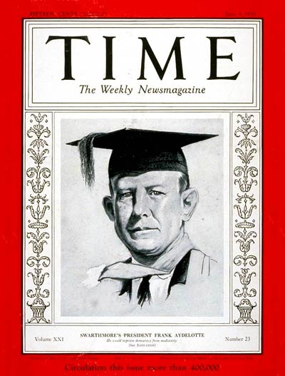 TIME Magazine Cover: Frank Aydelotte -- June 5, 1933