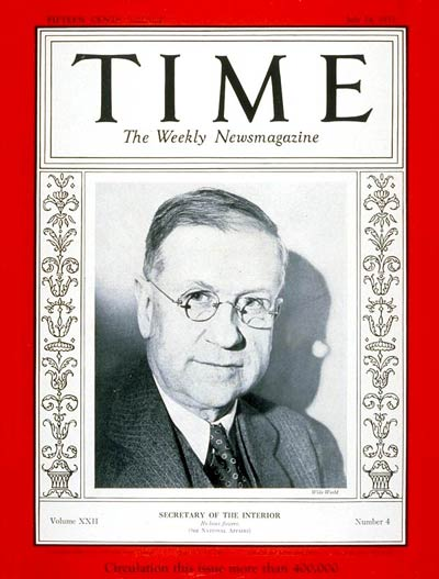 TIME Magazine Cover: Harold L. Ickes -- July 24, 1933