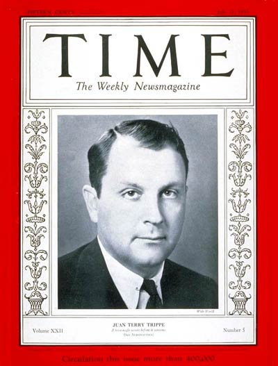 TIME Magazine Cover: Juan Trippe -- July 31, 1933