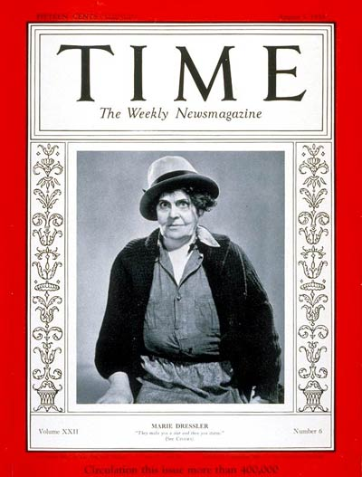 TIME Magazine Cover: Marie Dressler -- Aug. 7, 1933