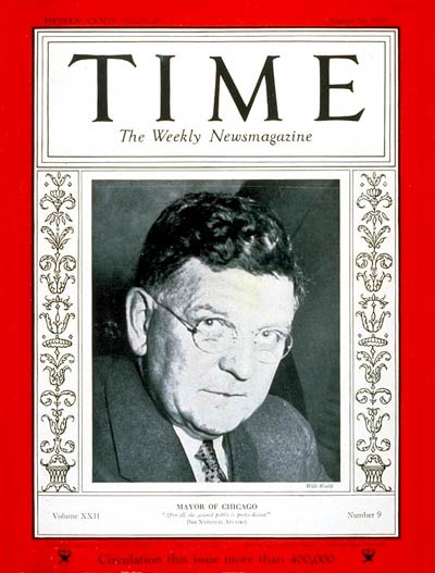 TIME Magazine Cover: Edward J. Kelly -- Aug. 28, 1933