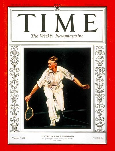 TIME Magazine Cover: Jack Crawford -- Sep. 4, 1933