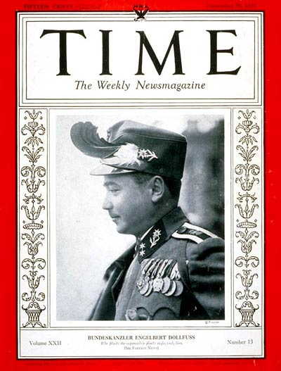TIME Magazine Cover: Engelbert Dollfuss -- Sep. 25, 1933