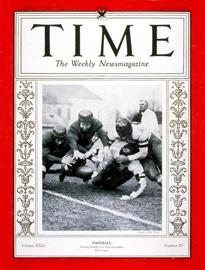 TIME Magazine Cover: Football -- Nov. 13, 1933