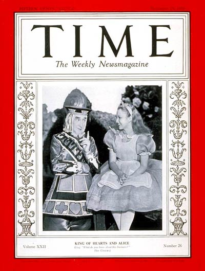 TIME Magazine Cover: Alice in Wonderland -- Dec. 25, 1933