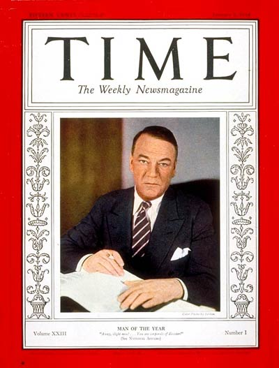 TIME Magazine Cover: Hugh S. Johnson, Man of the Year -- Jan. 1, 1934