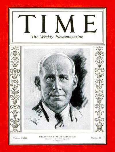 TIME Magazine Cover: Sir Arthur Eddington -- Apr. 16, 1934