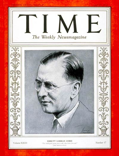 TIME Magazine Cover: Errett L. Cord -- Apr. 23, 1934