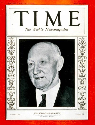 TIME Magazine Cover: Robert Lee Doughton -- Apr. 30, 1934
