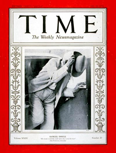 TIME Magazine Cover: Samuel Insull -- May 14, 1934