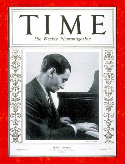 TIME Magazine Cover: Irving Berlin -- May 28, 1934