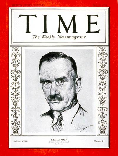 TIME Magazine Cover: Thomas Mann -- June 11, 1934