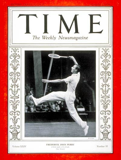 TIME Magazine Cover: Frederick J. Perry -- Sep. 3, 1934