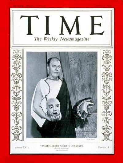 TIME Magazine Cover: Henry N. MacCracken -- Oct. 1, 1934