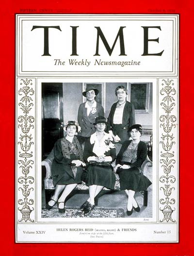 TIME Magazine Cover: Helen Reid & Friends -- Oct. 8, 1934