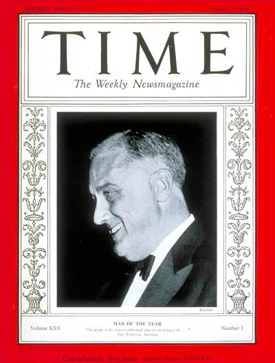 TIME Magazine Cover: Franklin D. Roosevelt, Man of the Year -- Jan. 7, 1935