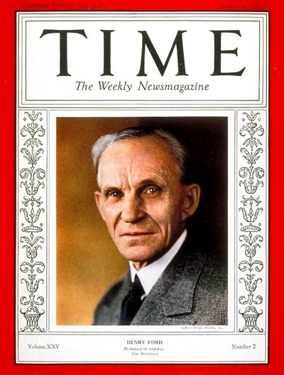 TIME Magazine Cover: Henry Ford -- Jan. 14, 1935