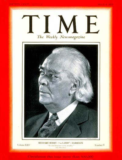 TIME Magazine Cover: Richard B. Harrison -- Mar. 4, 1935