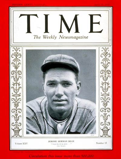 TIME Magazine Cover: Dizzy Dean -- Apr. 15, 1935