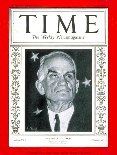 TIME Magazine Cover: Joseph W. Byrns -- Apr. 22, 1935