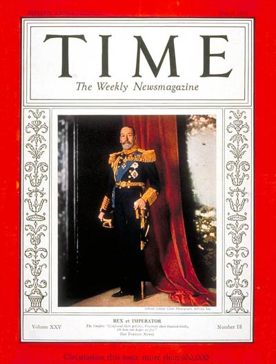 TIME Magazine Cover: King George V -- May 6, 1935