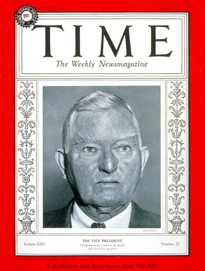 TIME Magazine Cover: John Nance Garner -- June 3, 1935
