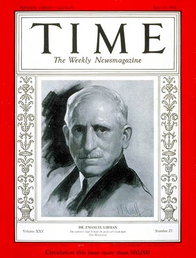 TIME Magazine Cover: Dr. Emanuel Libman -- June 10, 1935