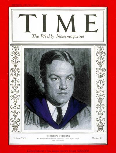 TIME Magazine Cover: Robert M. Hutchins -- June 24, 1935