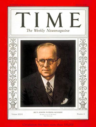 TIME Magazine Cover: Joseph P. Kennedy -- July 22, 1935