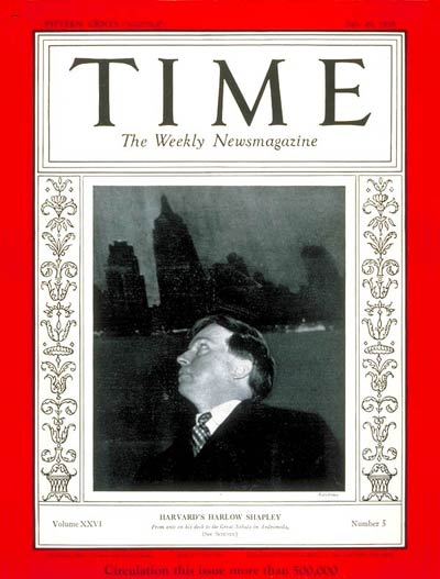 TIME Magazine Cover: Harlow Shapley -- July 29, 1935