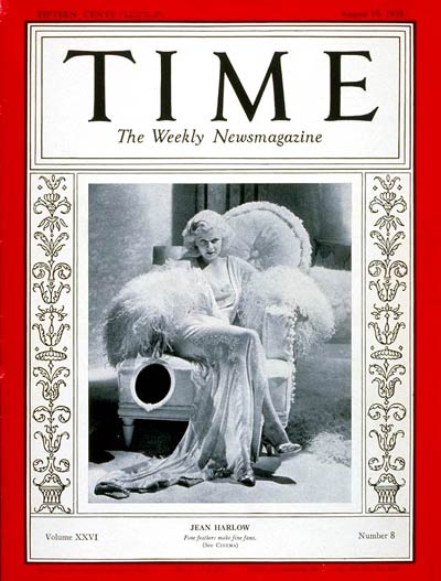 TIME Magazine Cover: Jean Harlow -- Aug. 19, 1935