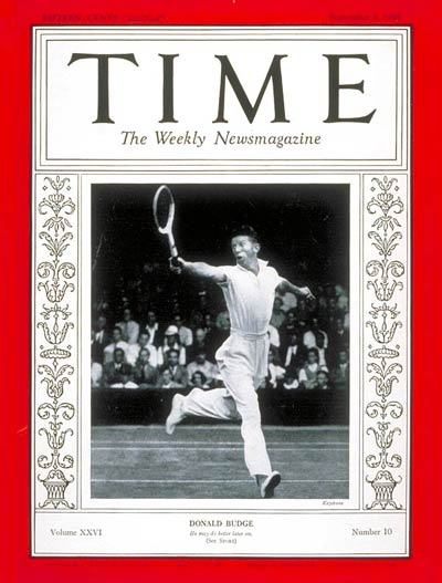 TIME Magazine Cover: Donald Budge -- Sep. 2, 1935