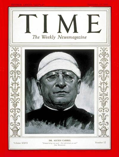 TIME Magazine Cover: Dr. Alexis Carrel -- Sep. 16, 1935