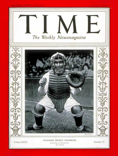 TIME Magazine Cover: Mickey Cochrane -- Oct. 7, 1935
