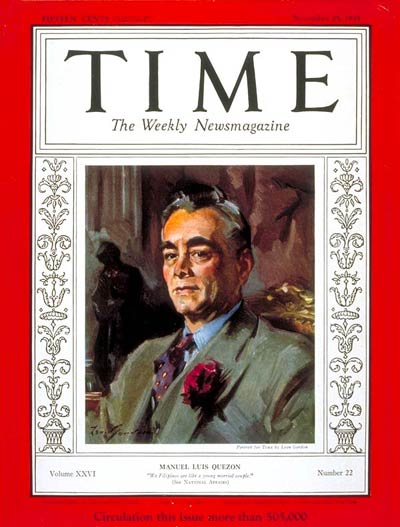 TIME Magazine Cover: Manuel L. Quezon -- Nov. 25, 1935