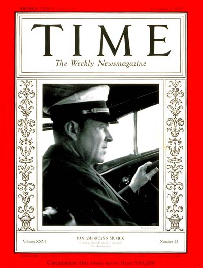 TIME Magazine Cover: Edwin C. Musick -- Dec. 2, 1935