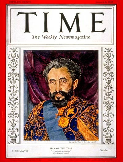 TIME Magazine Cover: Haile Selassie, Man of the Year -- Jan. 6, 1936
