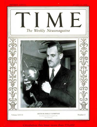 TIME Magazine Cover: Arthur H. Compton -- Jan. 13, 1936